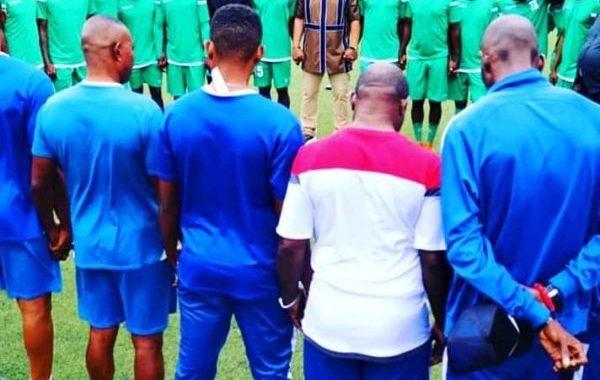 Les Immaculés sereins et concentrés avant Zanaco United