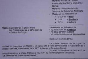 Nord-Kivu/Coupe du Congo : 3 clubs se sont déjà manifestés