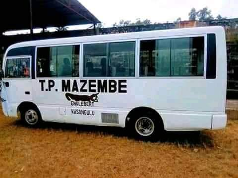 TP Mazembe de Kasangulu : Réception du bus neuf, don de Moïse Katumbi