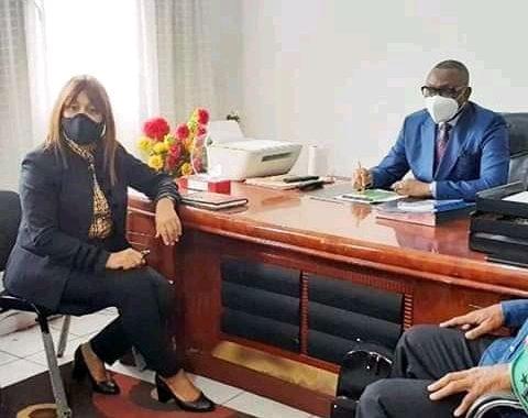 As V.club : Bestine Kazadi échange avec le président de la Linafoot