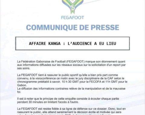 Affaire Kanga : Contrairement à la réaction de la FECOFA, la FEGAFOOT confirme sa participation