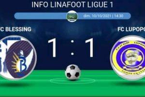 Ligue 1 : Blessing tient en échec Lupopo